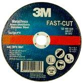 Disco de Corte Fino Fast-Cut 115 x 1,2 mm para Aços Carbono e Inox - 3M-HB004008817