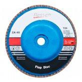 Disco Flap 115 x 22 mm Grão 60 com Suporte de Plástico  - HESSEN-29985