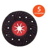 Jogo de Disco Semirrígido Estriado para Polimento 180mm com 5 Discos - BLACK JACK-J317