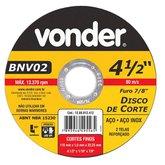 Disco de Corte Fino G 60 4.1/2 Pol. - VONDER-1208012412