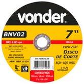 Disco de Corte 180mm para Aço Inox - VONDER-1208012700