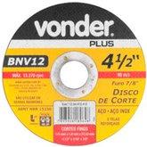 Disco de Corte 115mm para Aço Inox - VONDER-1204012412