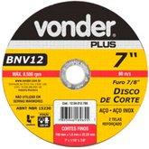 Disco de Corte 180mm 8500rpm para Aço Inox - VONDER-1204012700