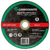 Disco de Corte para Aço Inoxidável de 178 x 1,6 x 22,2mm - CARBOGRAFITE-010593110