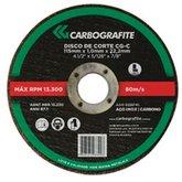 Disco de Corte para Aço Carbono e Metais de 115 x 3,2 x 22,2mm - CARBOGRAFITE-010593210