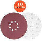Disco de Lixa com 225mm Grão 180 com 10 Unidades - VONDER-1258225180