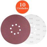 Disco de Lixa com 225mm Grão 240 com 10 unidades - VONDER-1258225240