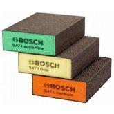 Kit de Esponjas Abrasivas Best Flat & Edge com 3 Unidades - BOSCH-2608621253-000