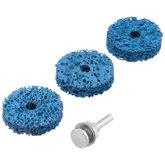 Jogo de Esponjas Abrasivas com Haste para Polimento Pesado 50mm com 4 Peças - VONDER-1250004003