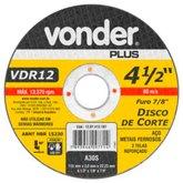 Disco de Corte 115 x 3 x 22,23mm G30 para Aço e Metais Ferrosos - VONDER-1207412187