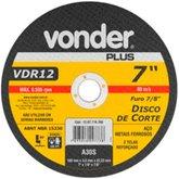 Disco de Corte 180 x 3 x 22,23mm G30 para Aço e Metais Ferrosos - VONDER-1207718780