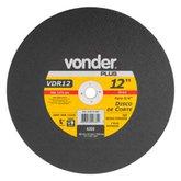Disco de Corte 300 x 3,2 x 19,05mm G30 para Aço e Metais Ferrosos - VONDER-1207121834