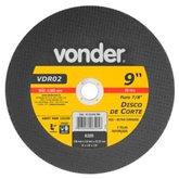 Disco de Corte 230 x 3 x 22,23mm G30 para Aço e Metais Ferrosos - VONDER-1215918780
