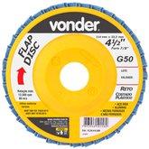 Disco de Desbaste/Acabamento Flap Disc Reto 4.1/2 Pol. Grão 50 - VONDER-1224412050