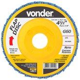 Disco de Desbaste/Acabamento Flap Disc Reto 4.1/2 Pol. Grão 60 - VONDER-1224412060