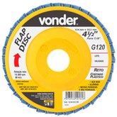 Disco de Desbaste/Acabamento Flap Disc Reto 4.1/2 Pol. Grão 120 - VONDER-1224412120