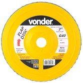 Disco de Desbaste/Acabamento Flap Disc Reto 7 Pol. Grão 40 - VONDER-1225700040