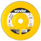 Disco de Desbaste/Acabamento Flap Disc Reto 7Pol. Grão 80 - VONDER-1225700080