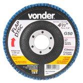 Disco de Desbaste/Acabamento Flap Disc Cônico 4.1/2 Pol. Grão 50 - VONDER-1224412051