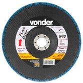 Disco de Desbaste/Acabamento Flap Disc Cônico 7Pol. Grão 40  - VONDER-1225700041