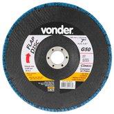 Disco de Desbaste/Acabamento Flap Disc Cônico 7Pol. Grão 50                - VONDER-1225700051