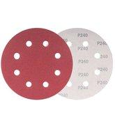 Disco de Lixa com 180mm Grão 240 para Lixadeira LPV 750 com 10 Peças - VONDER-1258180240