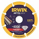 Disco de Corte Diamantado MetalMax 4.1/2 x 7/8 Pol. com 5 Unidades  - IRWIN-1998845