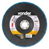 Disco de Desbaste/Acabamento Flap Disc Cônico 7 Pol. Grão 80 - VONDER-1225700081