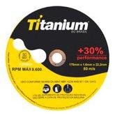 Disco de Corte Fino 178 x 1,6 x 22,2mm - TITANIUM-4185