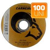 Kit com 100 Discos de Corte de Aço Inox 4.1/2 Pol. - LOYAL-K125
