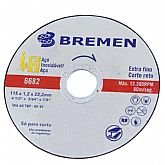 Disco de Corte Extra Fino para Aço Inoxidável 115 x 1,2 x 22,2 mm - BREMEN-6682