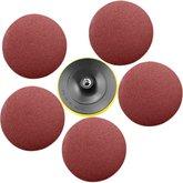 Disco de Lixa para Esmerilhadeira com 6 Peças - 180 mm - UYUSTOOLS-DPA180