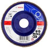 Disco Flap de 4-1/2 Pol. com Grão 60 para Metal - BOSCH-2608607362