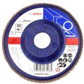 Disco Flap de 4-1/2 Pol. com Grão 80 para Metal - BOSCH-2608607363