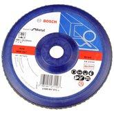 Disco Flap de 7 Pol. com Grão 80 para Metal - BOSCH-2608607371