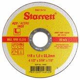 Disco de Corte de 4.1/2 Pol. para Aço Inox - STARRETT-DAC115-14