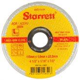 Disco de Corte de 4.1/2 Pol. para Aço Inox - STARRETT-DAC115-24