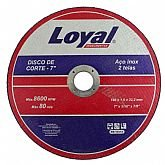 Disco de Corte de 7 Pol. para Aço Inox - LOYAL-04106012
