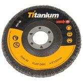 Disco Flap Grão 60 de 4-1/2 Pol. - TITANIUM-4186
