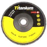 Disco Flap de 7 Pol. com Grão 40 - TITANIUM-4189