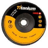 Disco Flap de 7 Pol. com Grão 60 - TITANIUM-4348
