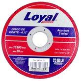 Disco de Corte para Aço Inox 4.1/2 Pol. - LOYAL-04106011