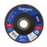 Disco Flap para Inox de 115mm com Grão 40 - STAMACO-6299