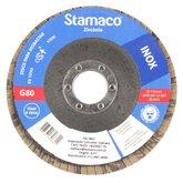 Disco Flap para Inox de 115mm com Grão 80 - STAMACO-6312