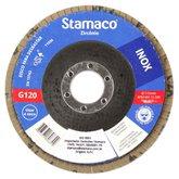 Disco Flap para Inox de 115mm com Grão 120 - STAMACO-6329