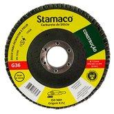 Disco Flap de 115mm com Grão 36 para Construção - STAMACO-7265