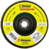 Disco Flap de 180mm com Grão 120 para Construção - STAMACO-7111