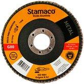 Disco Flap de 115mm com Grão 80 para Metal - STAMACO-7074