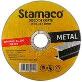 Disco de Corte de 115 x 20 mm para Metal - STAMACO-6121