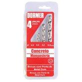 Jogo de Brocas de Wídea para Concreto com 4 Peças - DORMER-A803144B